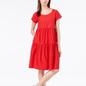 Max Mara Weekend red tiered dress